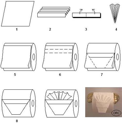 Toilet Paper Origami - toilet paper origami pleated tuck