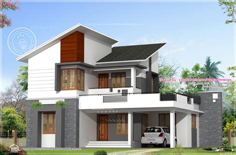 free modern house plans 1878 sq feet free floor plan and elevation kerala home