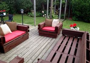 Patio Furniture Made From Pallets From Pallet To Patio