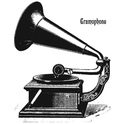 vector art old phonograph gramophone record player