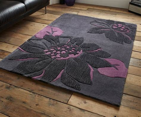 Modern Purple Rugs Modern Purple Aubergine Plum Colour Rugs In Large Small Medium Room Sizes Small Media Rooms