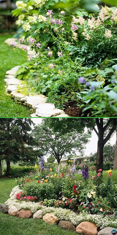 rock garden edging creative garden bed edging ideas projects