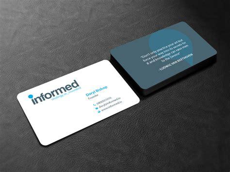 Information Technology Business Card Designs 109 modern playful information technology business card