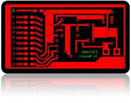 layout running led venom teknologi rangkaian running led dengan ic 4017 dan