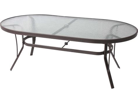 Oval Glass Top Dining Table Suncoast Cast Aluminum 76 X 42 Oval Glass Top Dining Table 4276kd