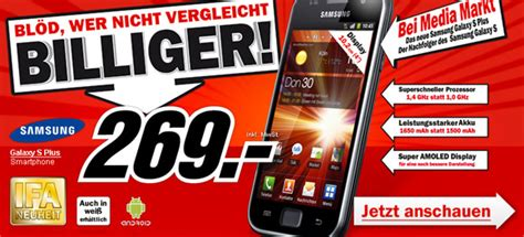 Samsung Galaxy S Plus F 252 R Schmale 269 Im Media Markt