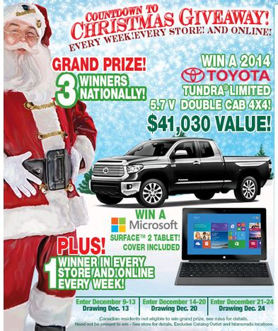 Bass Pro Toyota Tundra Sweepstakes - bass pro shops countdown to christmas 2013 sweepstakes win a surface tablet or a