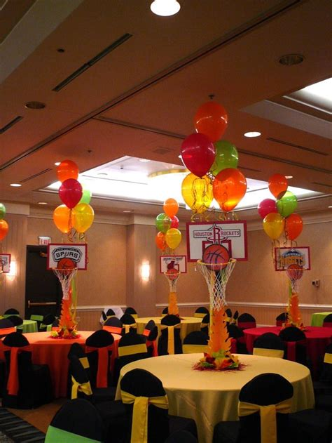 basketball themed decorations basketball centerpieces w balloons sports banquet