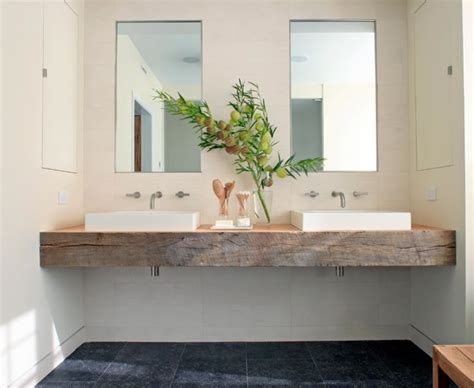 chunky timber vanity bench top bathrooms power rooms