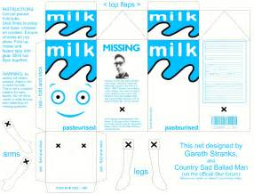 Milk Template by Papertoys X 2 Paper Fr