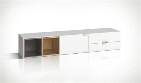 Meuble TV blanc design en bois 2 portes et 2 tiroirs