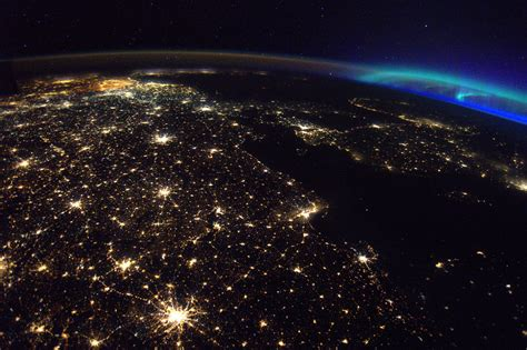 lights of the world 2018 a photo from space shows belgium shining bright and