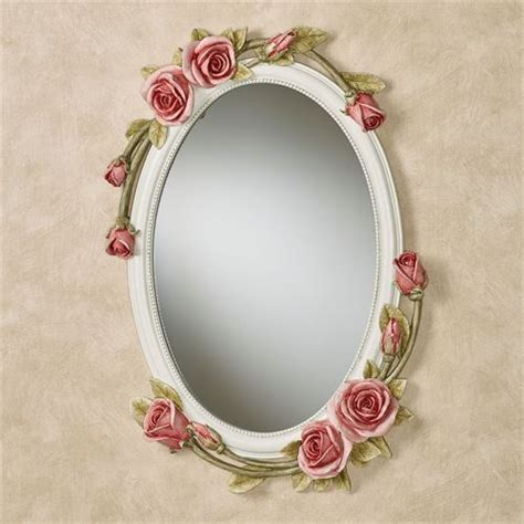 flower pattern wall mirror rose melody rose floral oval wall mirror