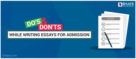 Mba Essay Dos And Donts by Dos And Don Ts While Writing Mba Admission Essays Tips To