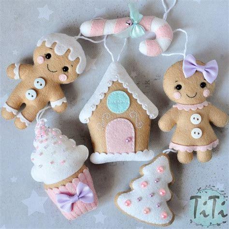 pan de jengibre fieltro dulces y galletas por simplysweetgifts m 225 s de 25 ideas incre 237 bles sobre fieltro navidad en