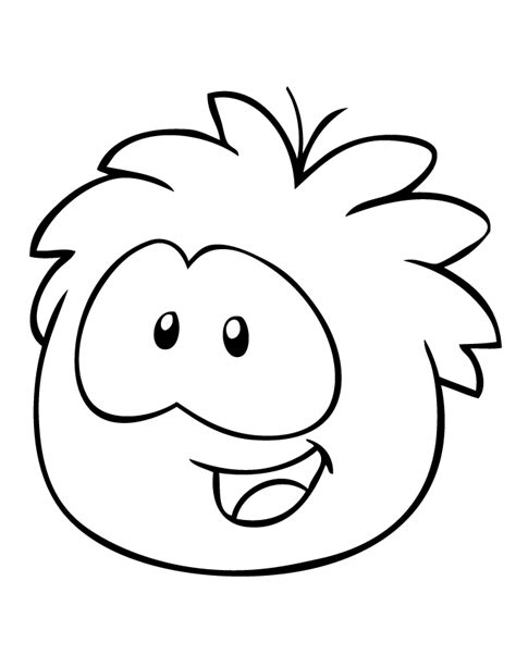 puffle free colouring pages