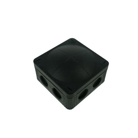 Junction Box 80x80x45 Black wiska 85x85x51mm black ip65 external junction box at uk electrical supplies