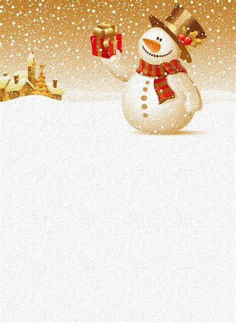 briefpapier zu weihnachten im golden rot und weiss schneemann mit geschenk christmas