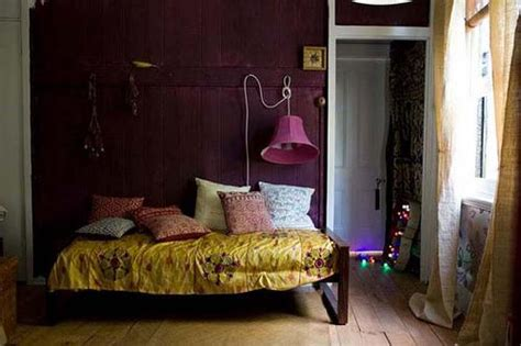 yellow purple bedroom: color scheme purple and gold eclectic living home