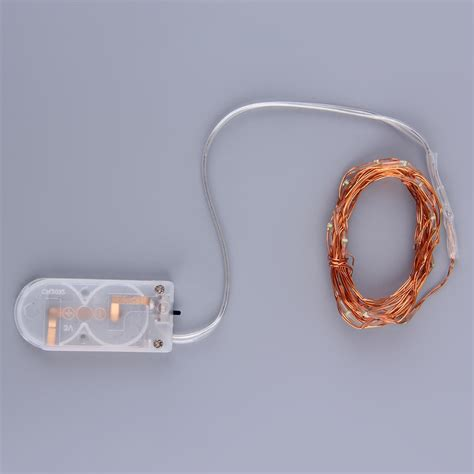 2m 20 leds button battery operated led copper wire string