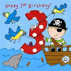 3 happy 3rd birthday handfinished 3rd birthday card - 3 Birthday Card