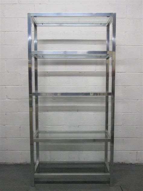 Etagere 6 Cases by Aluminum 200 Tager 232 With Glass Shelves For Sale At 1stdibs
