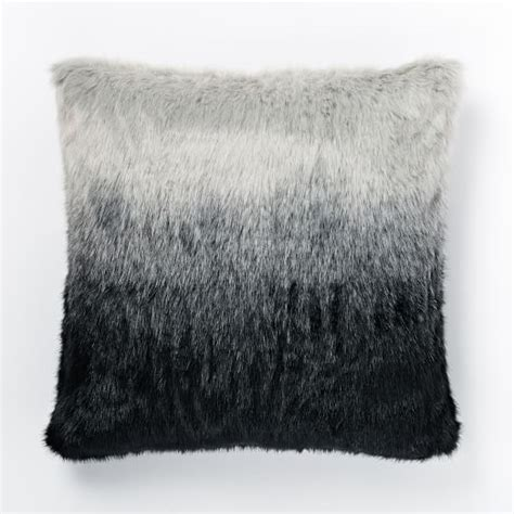 Faux Fur Pillow Cover by Faux Fur Seal Ombre Pillow Cover West Elm
