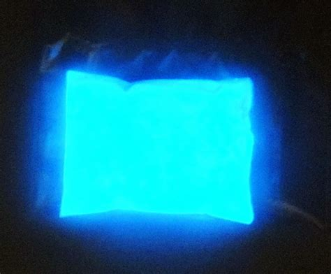blue uv glow in the pigment powder sky blue glow in the powder earth aluminate