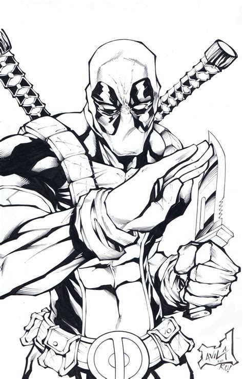 cool deadpool coloring pages deadpool by tonykordos on deviantart