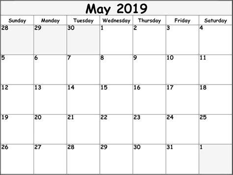 printable calendar templates blank