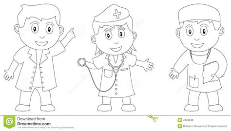 nurse practitioner coloring page coloring book for kids 6 stock vector image of cute