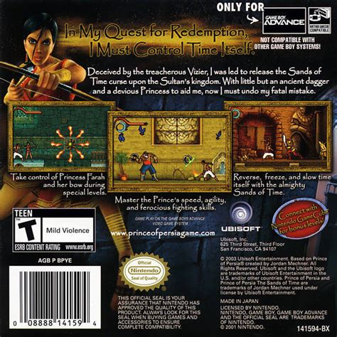 back on sands of time prince of the sands of time box for boy