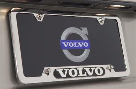 license plate frame volvo logo genuine volvo