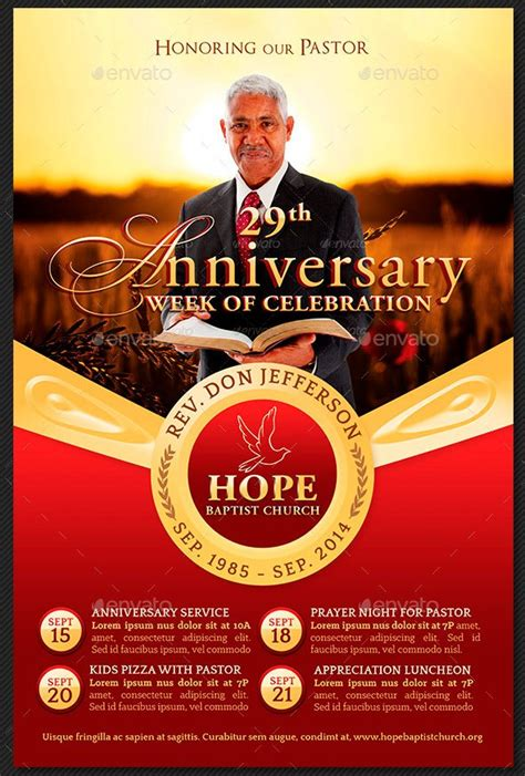 Pastor Appreciation Flyer Templates Graphicmule Pastor Anniversary Flyer Free Template
