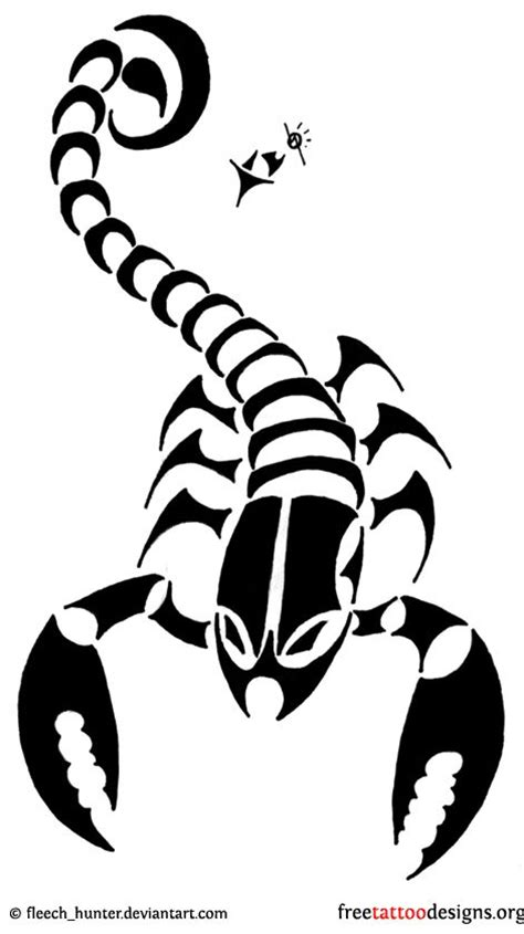 cool black and white tattoos scorpion images designs