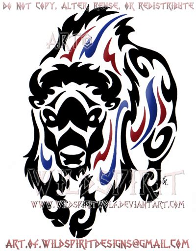 tribal buffalo tattoos thundering bison tribal design by wildspiritwolf tattoos