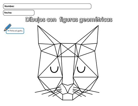 figuras geometricas hojas de trabajo gato hago mi tareahago mi tarea