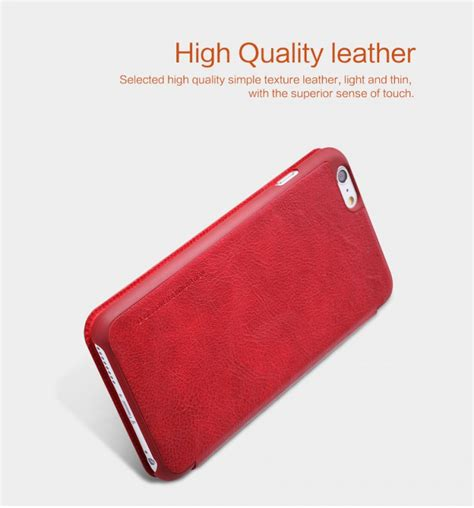 Nillkin Qin Series Leather For Apple Iphone 5 5s Merah nillkin qin series leather for apple iphone 6 plus 5 5 quot
