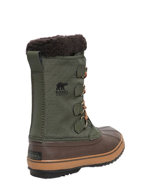 sorel s 1964 pac waterproof insulated winter boots lyst sorel 1964 pac waterproof winter boots in brown