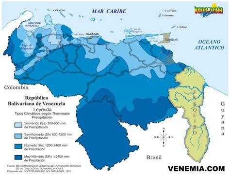 imagenes satelitales del clima en venezuela mapa de los pisos de precipaci 243 n segun thornthwaite para