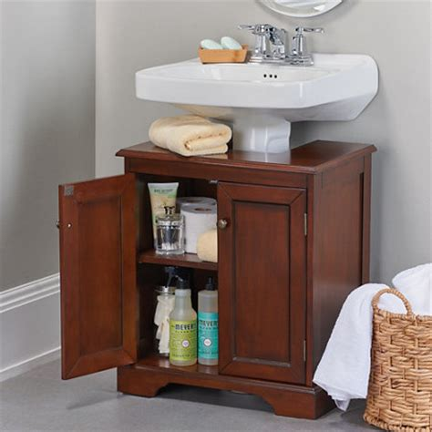 bathroom pedestal sink storage cabinet 42 bathroom storage hacks that ll help you get ready faster
