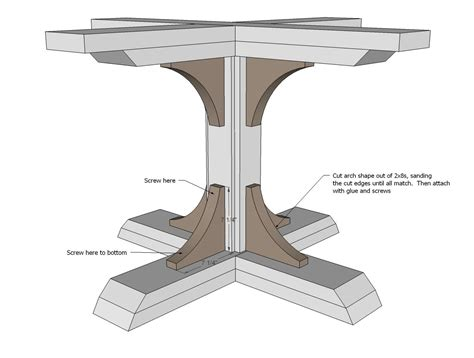 ana white build a square pedestal table free and easy