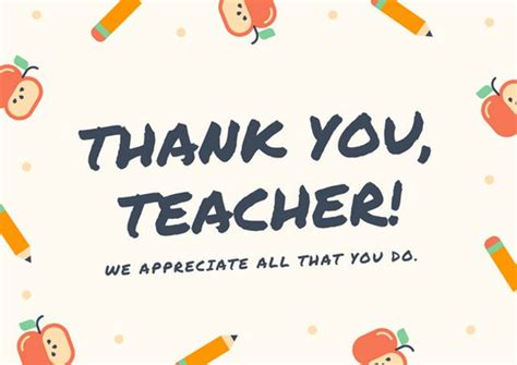 Free Thank You Card Templates For Teachers customize 58 thank you card templates canva