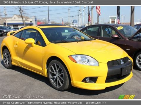 mitsubishi eclipse yellow solar satin yellow 2009 mitsubishi eclipse gt coupe