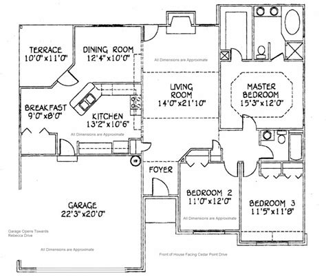 house floor plan with dimensions 1577 actual heated square feet