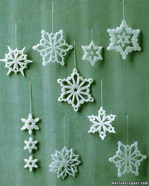 martha stewart white christmas ornaments 16 snowflake ornaments to help guarantee a white martha stewart
