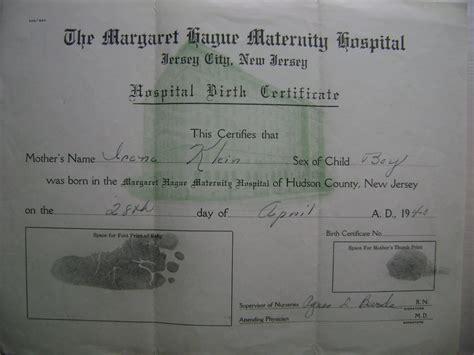 Hospital Birth Records April 1940 In Memory Of Edwin W Klein