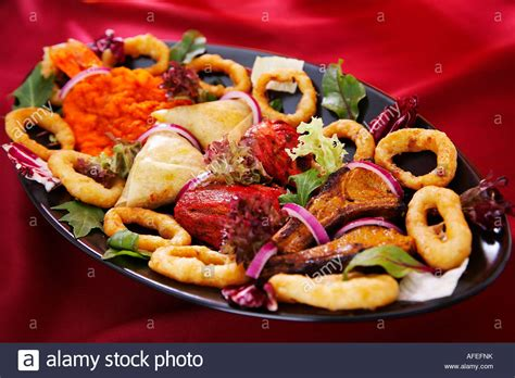 indian cuisine starters indian food platter starter to stock photo royalty