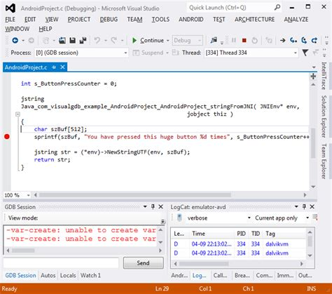 android quick tutorial debugging arbitrary apk files with visual studio