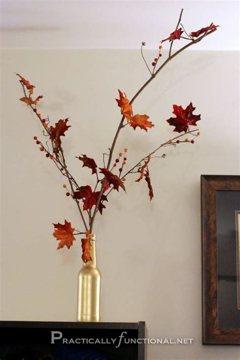 fall foliage decorations easy diy fall decor for less than 5 practically functional
